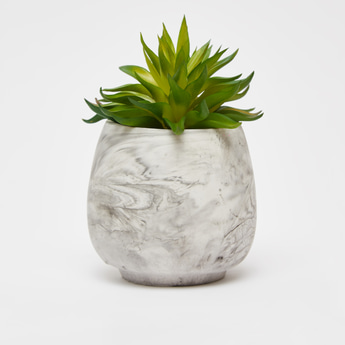 Artificial Succulent Plant with Marble Print Pot