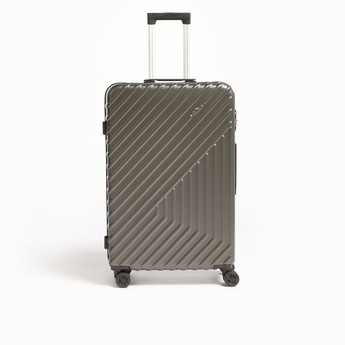Textured Travel Hard Case with Wheels and Retractable Handle - 49x29x76 cms