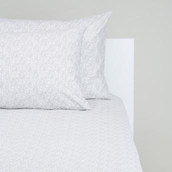 طقم مفروشات سرير 3 قطع بطبعات - 200x180 سم
