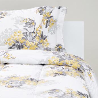 Floral Print 3-Piece Queen Comforter Set - 220x160 cms