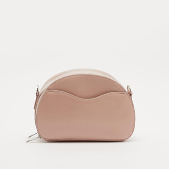 Solid Crossbody Bag with Detachable Sling Strap