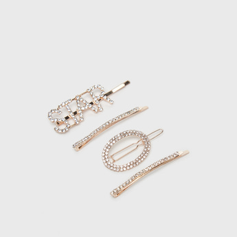 Set of 4 - Studded Hairpins