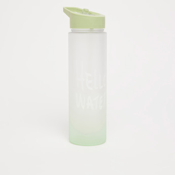 Sports Bottle with Sipper Opening and Tag