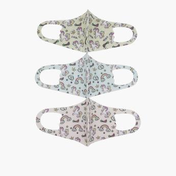 Set of 3 - Unicorn Print Anti-Dust Reusable Mask