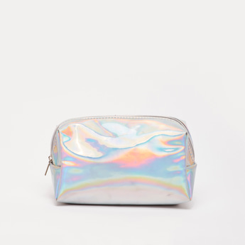 Glossy Zippered Travel Pouch
