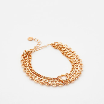 Metallic Chain Link Bracelet with Lobster Clasp