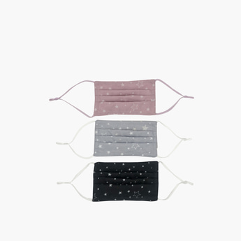 Set of 3 - Star Print Anti-Dust Reusable Mask