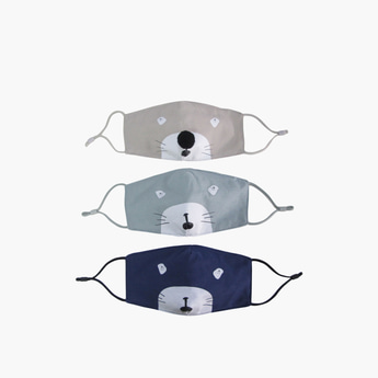 Set of 3 - Textile Anti-Dust Reusable Mask