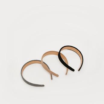 ربطة شعر مضلعة- طقم من 3 قطع