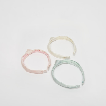 Set of 3 - Textured Fabric Layered Hairband
