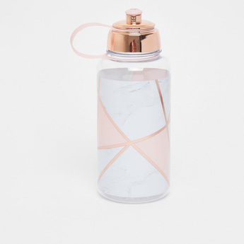 Geometric Print Water Bottle with Sipper