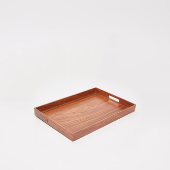 Rectangular Serving Tray with Cutout Handles