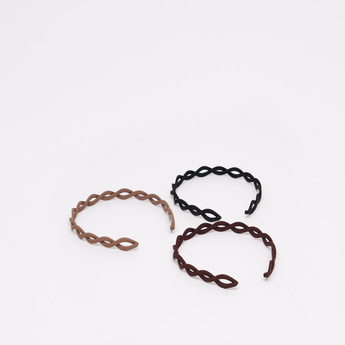 Pack of 3 - Solid Patterned Hairbands