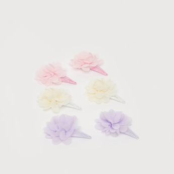 Set of 3 - Assorted Floral Hair Clip