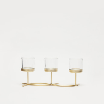 3-Piece Glass Candle Holder