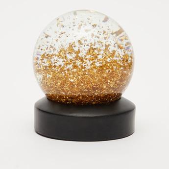 Glitter Detail Globe Decor Piece
