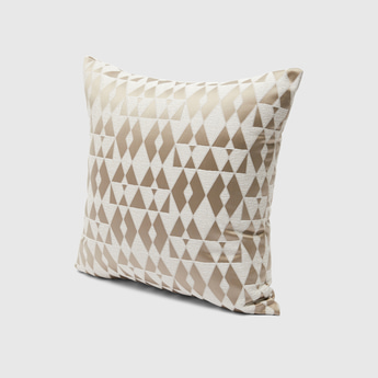All-Over Print Filled Cushion with Zip Closure - 43x43 cms