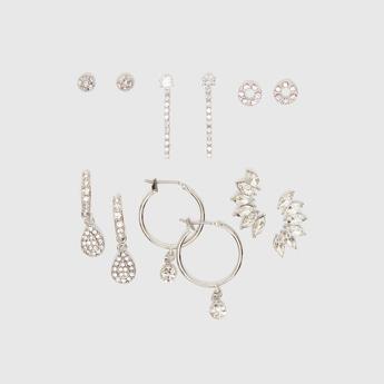 Set of 6 - Assorted Studded Earrings