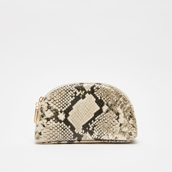 Animal Print Pouch with Zip Closure