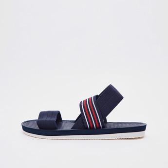Textured Sandals with Elasicised Straps