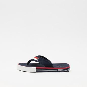 Textured Slip-On Beach Slippers