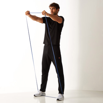Printed Anti-Pilling Track Pants with Drawstring Closure