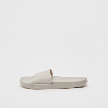 Solid Slides with Embossed Print Strap