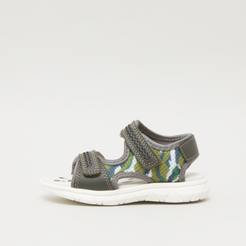 Camo Sandals with Hook and Loop Closure