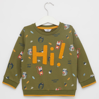 All Over Print Sweatshirt with Long Sleeves