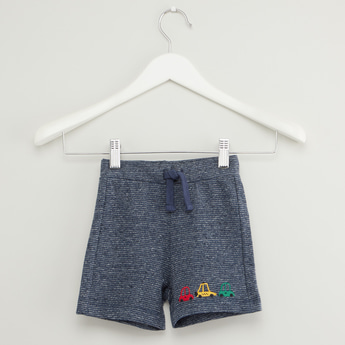 Textured Shorts with Elasticised Waistband