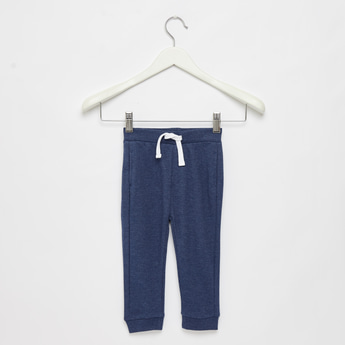 Solid Joggers with Slip Pockets and Drawstring Closure