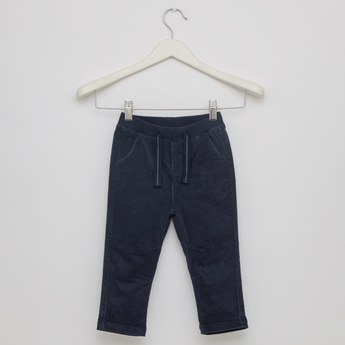 Full Length Solid Pants with Pockets and Drawstring Waist