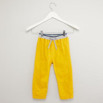 Solid Jog Pants with Drawstring and Pocket Detail
