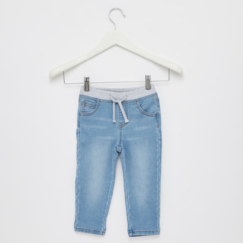 Full Length Jeans with Drawstring Closure