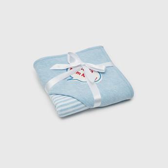 Printed Receiving Blanket with Hood