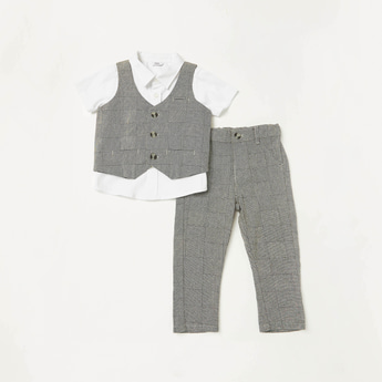 Checked 3-Piece Clothing Set