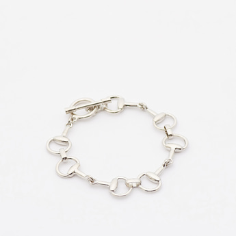 Metallic Bracelet with Toggle Clasp