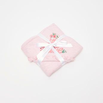 Floral Print Hooded Blanket