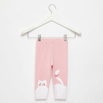Full-Length Skinny Fit Cat Print Leggings