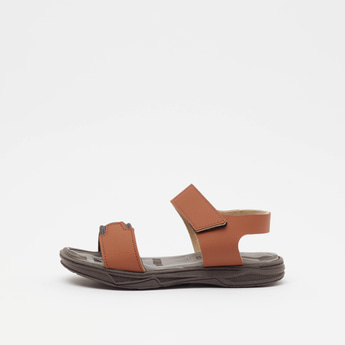 Dual Strap Sandals with Hook and Loop Closures