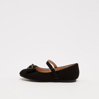 حذاء ماري جين سادة بزينة فيونكة