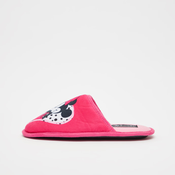 Minnie Mouse Print Bedroom Slides
