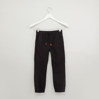 Plain Jog Pants with Pocket Detail and Elasticised Waistband