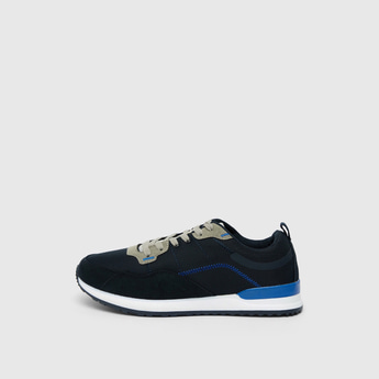 Textured Sport Shoes with Lace-Up Closure