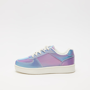 Panelled Sneakers with Lace-Up Closure