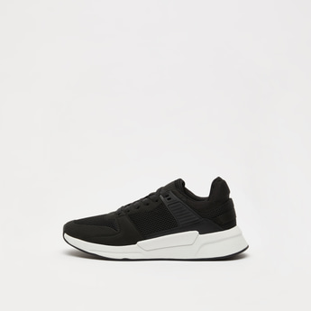 Textured Lace-Up Low Ankle Sneaker
