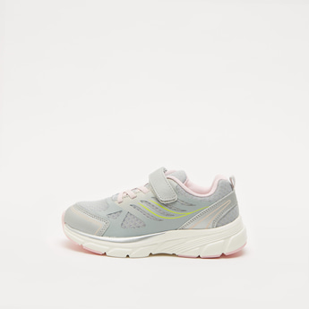 Textured Sports Shoes with Hook and Loop Closure