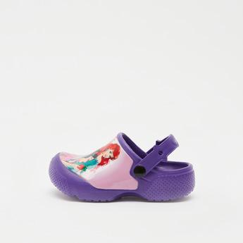 حذاء بكعب سميك سهل الارتداء بطبعات