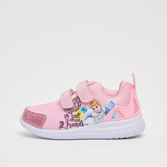 Cinderella Print Sports Shoes with Hook and Loop Closure