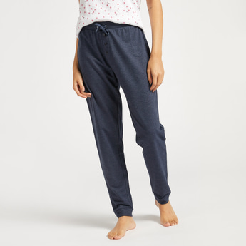 Full Length Solid Pants with Drawstring Closure